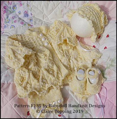 Pretty Spring Coat Set to fit 16-22 inch dolls/preemie-3m+ baby