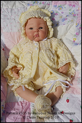 Pretty Spring Coat Set to fit 16-22 inch dolls/preemie-3m+ baby