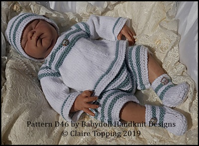 Striped top and shorts set for 13-18 inch doll/preemie/newborn baby