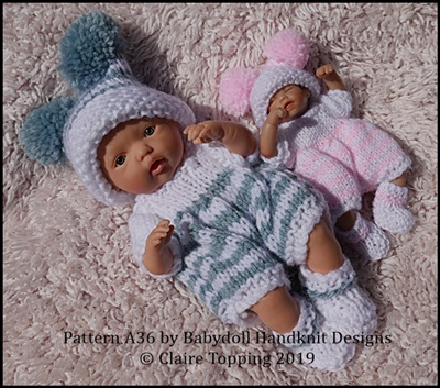 "Striped Romper Set 4-8"" dolls"