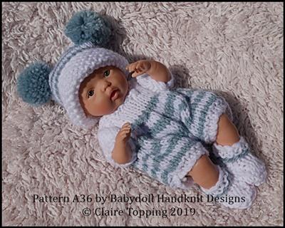 Striped Romper Set 4-8� dolls