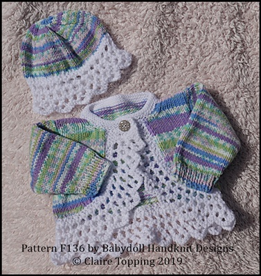Bolero and beanie 14-24 inch chest (newborn-3yrs)