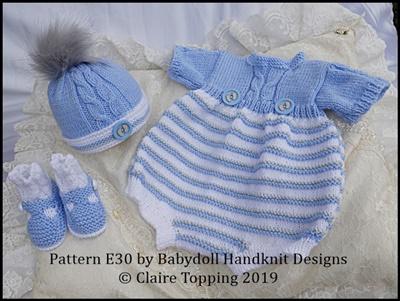Unisex Romper Set 16-22 inch dolls/newborn/0-3m baby