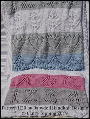 Sampler Baby Blanket in three sizes