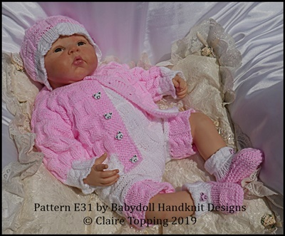 Jacket & Shorts with bib set 16-22 inch dolls/newborn/0-3m baby