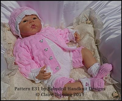Jacket & Shorts with bib set 16-22 inch dolls/newborn/0-3m baby