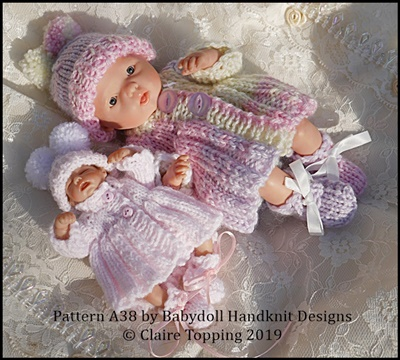 Pleated Coat Set 4-8 inch dolls