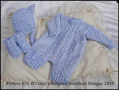 Traditional Boy's Set 16-22 inch dolls/newborn/0-3m baby