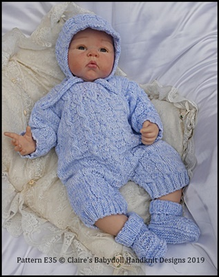 Traditional Boy's Set 16-22 inch dolls/newborn/0-3m baby