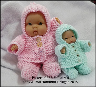 Hooded Coat & Leggings Set 5 & 8 inch Berenguer Dolls