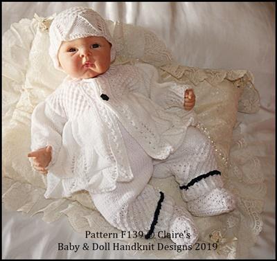 Coat & Trouser Set 16-22 inch doll/preemie-3m+ baby