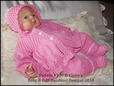 Coat & Trouser Set 16-22 inch doll/preemie-3m+ baby