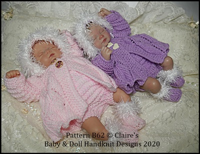 Hooded Coat Set 9-12 inch dolls