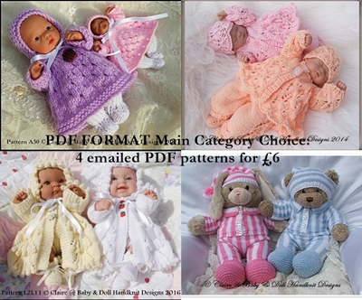 PDF Format Main Categories Pattern Choices (Smaller Dolls)
