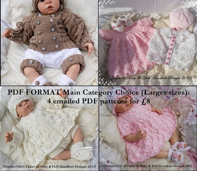 PDF Format Main Categories Pattern Choices (Larger Dolls)