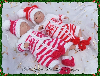 'Santa's Little Helper' Outfit 10-16 inch doll