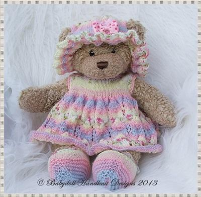 Dress & Floppy hat Set for 16 inch Teddy/Build a Bear Animal