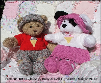 Summer Motif Set for 16 inch Teddy Bear/Bunny/Dog etc