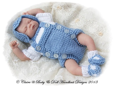 Traditional Romper Suit Set 7-12 inch doll