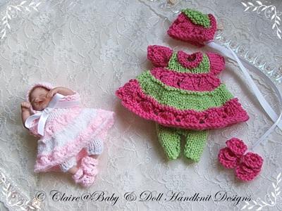 Two-coloured Dress & Leggings Set 4-7 inch dolls