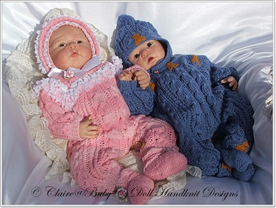 All-in-One Pattern for 16-22 inch doll/0-3m baby for boys and girls