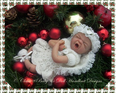 Christmas Angel Outfit knitting pattern 7-12 inch dolls