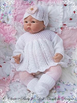 Angel Top & Leggings Set 16-22 inch doll/0-3m baby