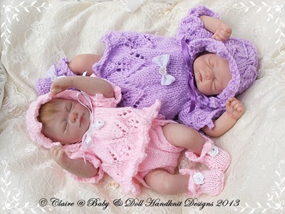 Angel Top & Nappy Cover Set 7-12 inch doll