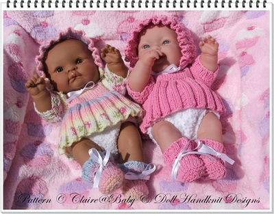 Angel Top & Nappy Set for 14 inch 'Lots to Love' Berenguer Doll