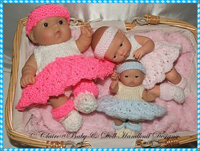 Ballerina Outfit Pattern for 5-8 inch Berenguer dolls