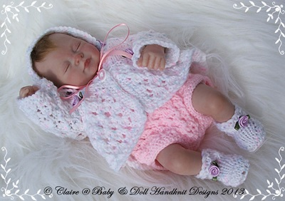 Romper & Bedjacket Set 7-12 inch doll