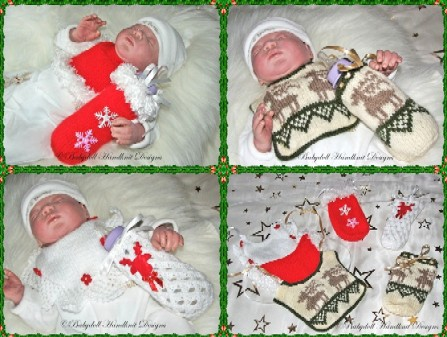 FREE Christmas bibs and bottlecovers 18-22 inch dolls