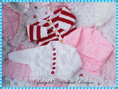 Three Cardigans for early/newborn/0-3m baby