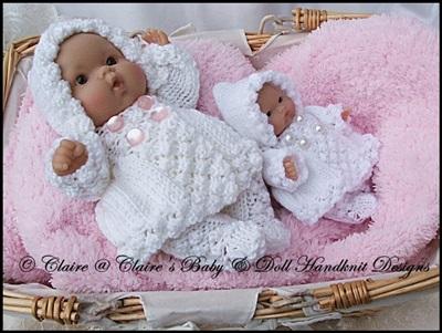 Hooded Coat & Leggings Set 5 & 8 inch Chubby Berenguer dolls
