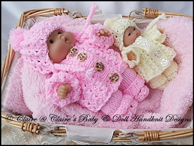 Cosy Chunky Style Pram Suit 5 & 8� Chubby Berenguer dolls-knitting pattern, berenguer