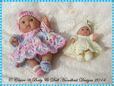 May Princess Dress Set for 5 & 8 inch Chubby Berenguer dolls