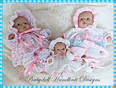 Lacy Matinee Set for Chubby 5-8 inch Berenguers
