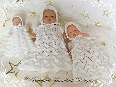 Christening Set Pattern for Chubby 5 & 8 inch Berenguers