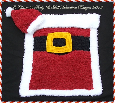 Christmas Car Seat Blanket & Hat 0-9m baby/car seat