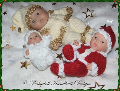 Christmas Outfit 5-8 inch Berenguers