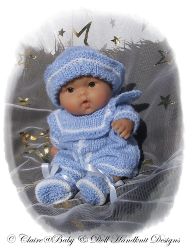 Sailor Romper Set 8 & 10 inch Chubby Berenguer Doll-chubby berenguer,sailor, romper, baby, doll