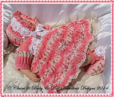 'Cindy' Dress Set 16-22 inch doll/prem-3m+ baby
