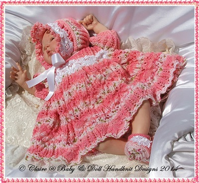 'Cindy' Dress Set 16-22 inch doll/prem-3m+ baby