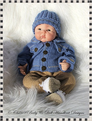Denim Jacket & Chinos Outfit 16-22 inch doll/0-3m baby