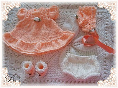 Frilled Dress set 7-12 inch doll