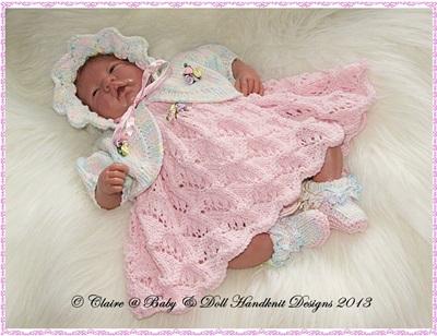 Dress & Bolero Set for 10-16 inch doll/preemie baby