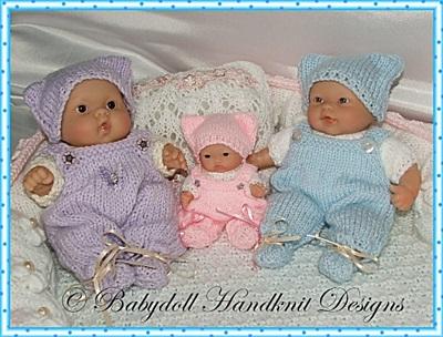 Dungaree Set Chubby 5-8 inch Berenguer dolls