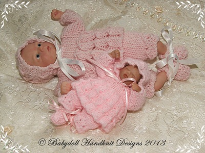 Fluted Dress Set 4-8 inch doll