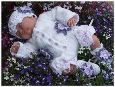 'Flower Power!' Summer Set 16-22 inch doll/0-3m baby