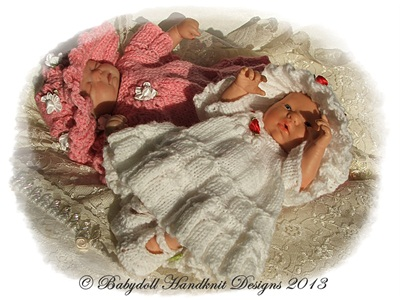 Flower Motif Dress Set for 8-13 inch dolls